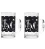 Rang Rage Word Fillers Handpainted Beer Mugs - Set of 2