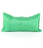 RangDesi Green Silk 14 x 7 Inch Solid Cushion Covers - Set of 2