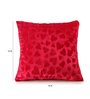 RangDesi Hot Pink Velvet 16 x 16 Inch Handcrafted Designer Cushion Cover