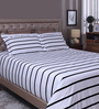 Raymond Home Black 100% Cotton King Size Bedsheet - Set of 3