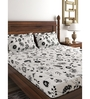 Raymond Home Black 100% Cotton Queen Size Bedsheet - Set of 3