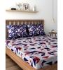 Raymond Home BLue 100% Cotton Queen Size Bedsheet - Set of 3