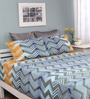 Raymond Home Blue Cotton Queen Size Legend Bedsheet with 2 Pillow Covers