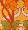 Raymond Home Oranges Nature & Florals Cotton Queen Size Bed Sheets - Set of 3