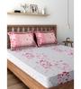 Raymond Home Pink 100% Cotton Queen Size Bedsheet - Set of 3