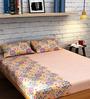 Raymond Home Pink Cotton King Size Bedsheet - Set of 3