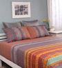 Raymond Home Multicolour Cotton Queen Silverleaf Bed Sheet with 2 Pillow Covers