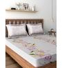 Raymond Home Purple 100% Cotton Queen Size Bedsheet - Set of 3
