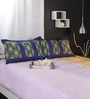 Raymond Home Purples Abstract Patterns Cotton Queen Size Bed Sheets - Set of 3