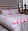 Raymond Home Red 100% Cotton King Size Bedsheet - Set of 3