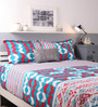 Raymond Home Turquoise Cotton King Size Bed Sheet - Set of 3