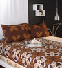 Raymond Home Yellows Abstract Patterns Cotton Queen Size Bed Sheets - Set of 3