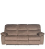 Rays Three Seater Recliner in Brown Colour by @home