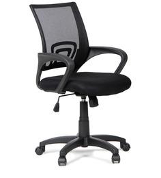Regus Low Back Mesh Chair Black by Hometown
