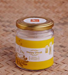 Resonance Candles Diwali Special Sandalwood & Jasmine Aroma Scented Natural Wax Candles
