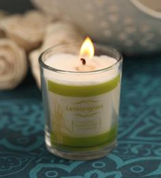 Resonance Lemongrass Aroma Scented Natural Wax Shot Glass Candle