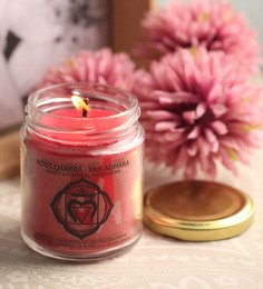 Resonance Meditation Root Chakra Clove & Cedar Aroma Essential Oil Healing Therapy Scented Candle