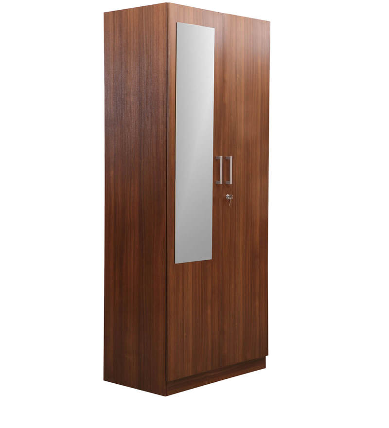 Reegan Two Door Wardrobe with Mirror by Nilkamal  available at Pepperfry for Rs.17280