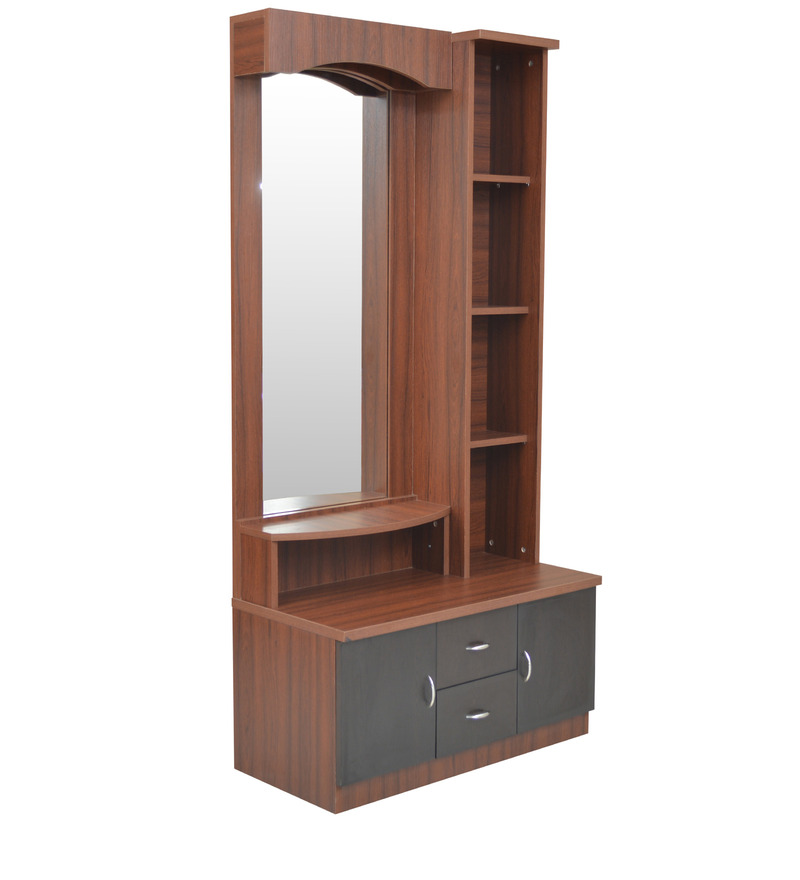 Buy regent dressing table in wenge colour by crystal for Dressing table design 2014