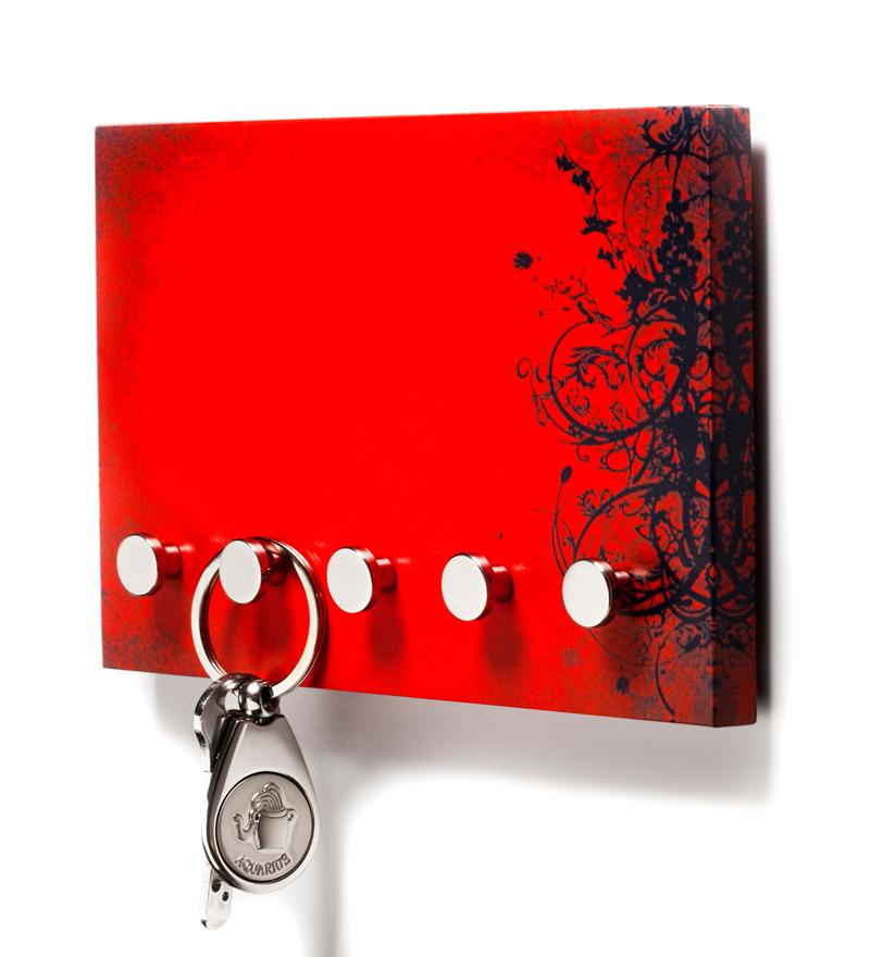 Buy Regis Red Black Stainless Steel Vivid Festive Wall