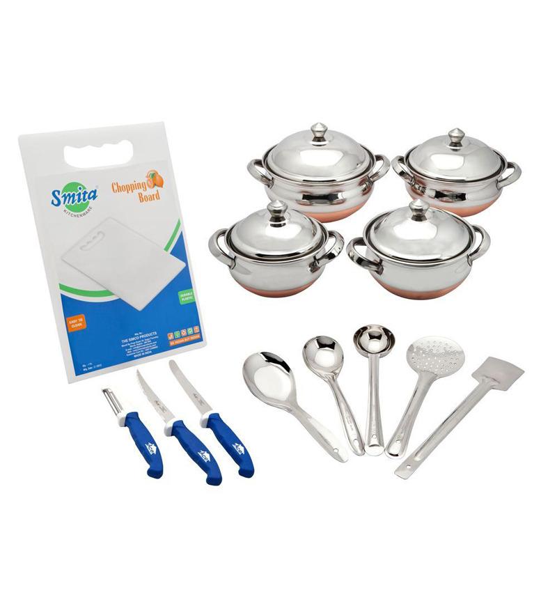 Retro kitchen combo 13 pcs by retro online cookware for Kitchen combo set 50 pcs