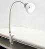 Renata LED Clamp Light - Enlighten - Cool White Light  - Plastic Shade -Silver