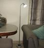 Renata LED Floor Light - Enlighten - Cool White Light - Plastic Shade -Silver
