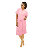 Red Rose Pink Cotton 43 x 21 Inch Bathrobe