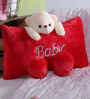 Novel Red Teddy Bear Baby Pillows