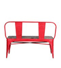 Ekati Bench with Chair in Red Finish by Bohemiana