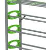 Redley Iron Shoe Rack in Green Colour by Nilkamal