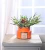 RedNBrown Orange Ceramic Flower Vase