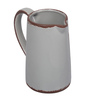 RedNBrown White Ceramic Pitcher Vase