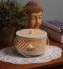 Rednbrown White Metal Candle Holder