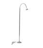 Renata Illumina White Led Gray Steel Floor Lamp