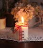 Resonance Caramel Christmas Styled Festive Snowman Scented Candle