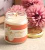 Resonance Peach Aroma Natural Wax Medium Jar Scented Candle