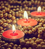 Resonance Candles Red Tea Light Candles - Set of 50