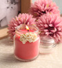 Resonance Strawberry Aroma Natural Wax Decorative Jar Scented Candle
