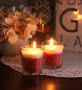 Resonance Strawberry Christmas Festive Scented Candle - Set of 2