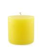 Resonance Yellow Pillar Candle
