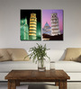 Retcomm Framed Multiple Canvas Paintings Multiple frames of mordern art contemporary tree branches