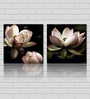 Retcomm Art Lotus Pink Wooden 24 x 18 Inch Framed 2-piece Painting Set