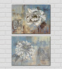 Retcomm Framed Multiple Canvas Paintings Colored Home Decor Vase With Flowers