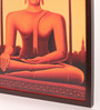 Retcomm Art Wooden 18 x 1 x 24 Inch Meditating Lord Buddha Bright Light Framed Canvas Painting
