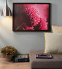 Retcomm Art Wooden 18 x 1 x 24 Inch Retcomm Pink Flowers Framed Canvas Painting