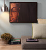 Retcomm Art Wooden 24 x 1 x 18 Inch Buddha Meditation Framed Canvas Painting