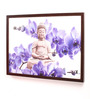 Retcomm Art Wooden 24 x 1 x 18 Inch Lord Buddha Meditating Statue Framed Canvas Painting