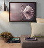Retcomm Art Wooden 24 x 1 x 18 Inch Swan Framed Canvas Painting
