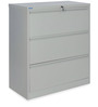 Retro Three Drawer Filing Cabinet in Grey Colour by Nilkamal